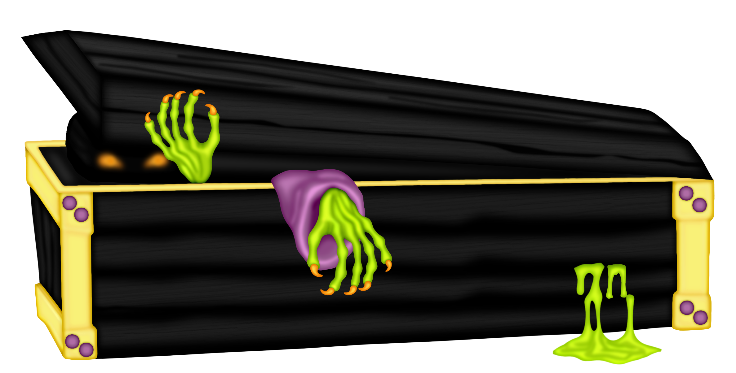 Transparent coffin halloween. Zombie png clipart gallery