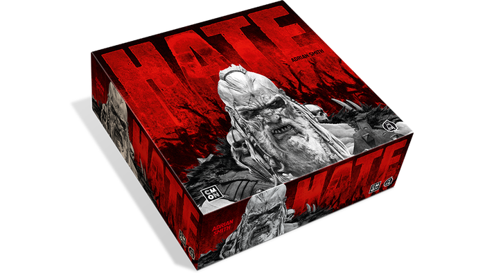 Transparent horror dark red. Hate by cmon production
