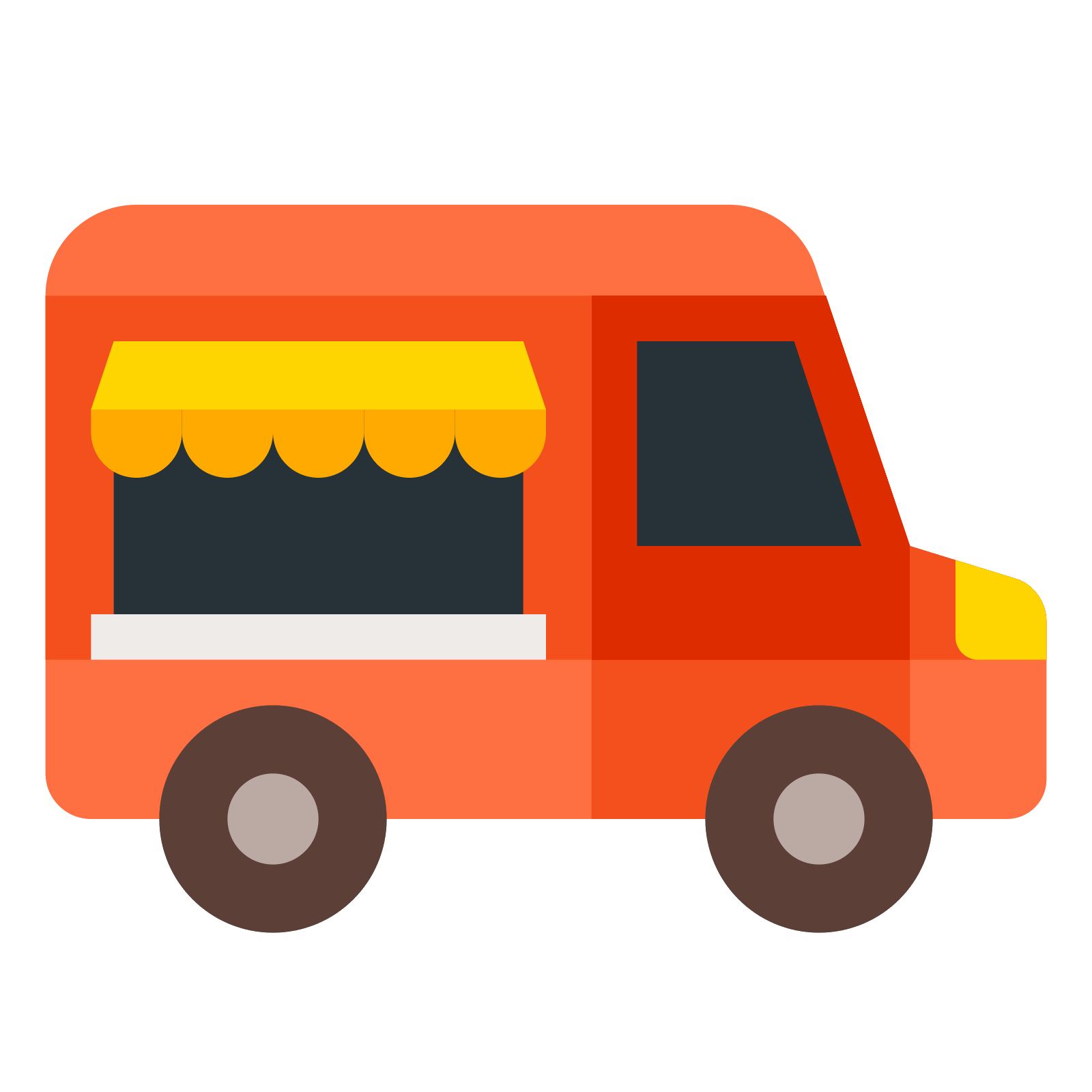 transportation vector truck design