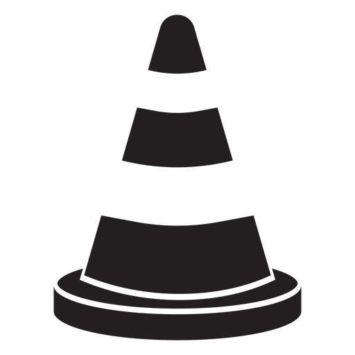 Transparent cone icon. Road firefighter png svg