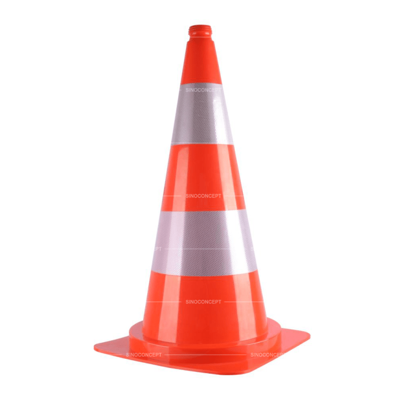 Transparent cone road divider. Safety cones traffic wholesale