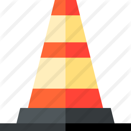Transparent cone security. Free icons icon
