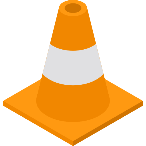 Transparent cone security. Traffic computer icons others