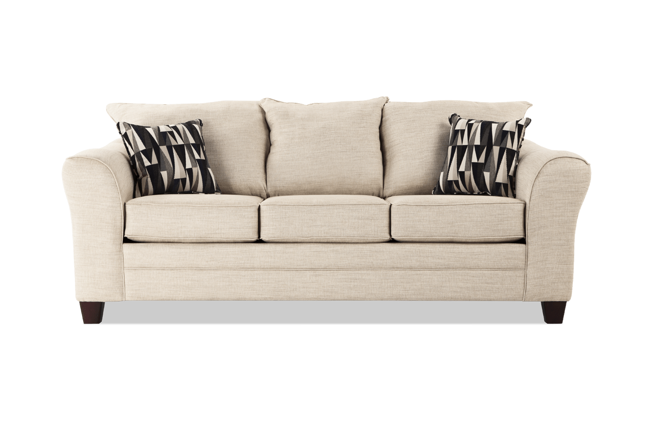 Transparent couch beige. Adrina sofa outlet bob