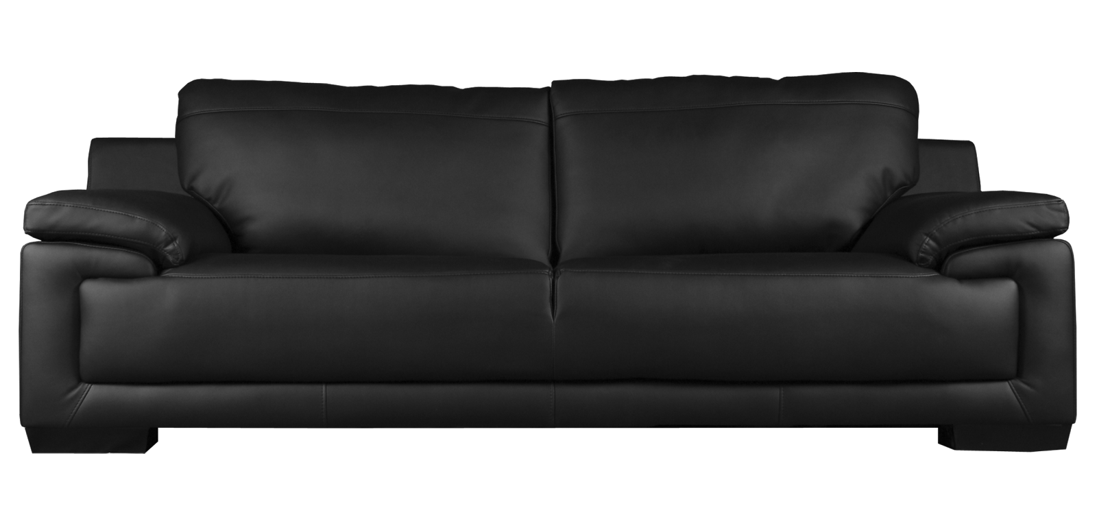 Transparent couch black. Sofa hd png images