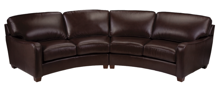 Transparent couch black leather. Home leathercraft easy living