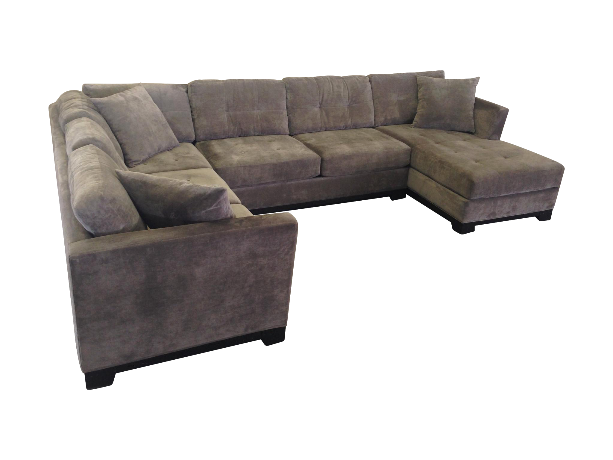Transparent couch tan microfiber