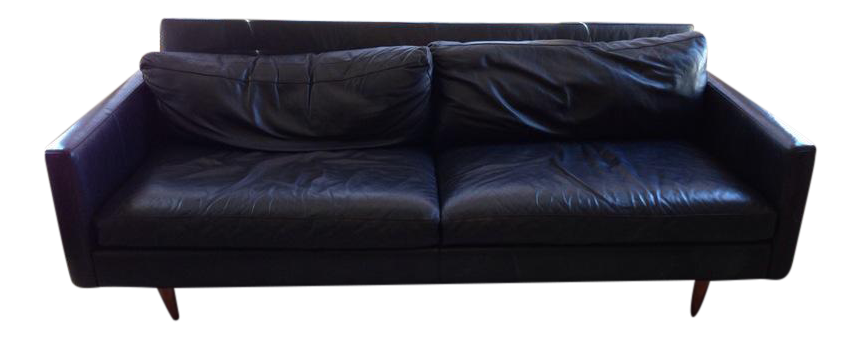 Transparent couch modern. Contemporary black leather two