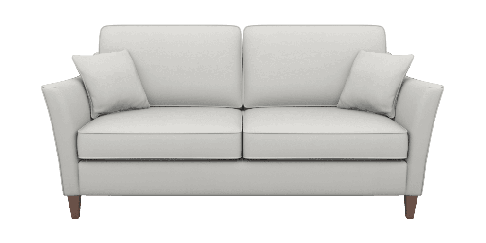 transparent couch plain white