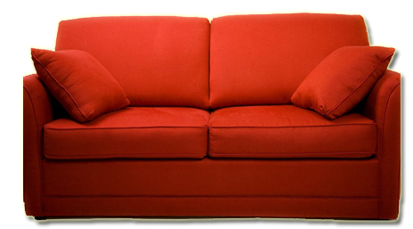 Transparent couch red. I have always wanted