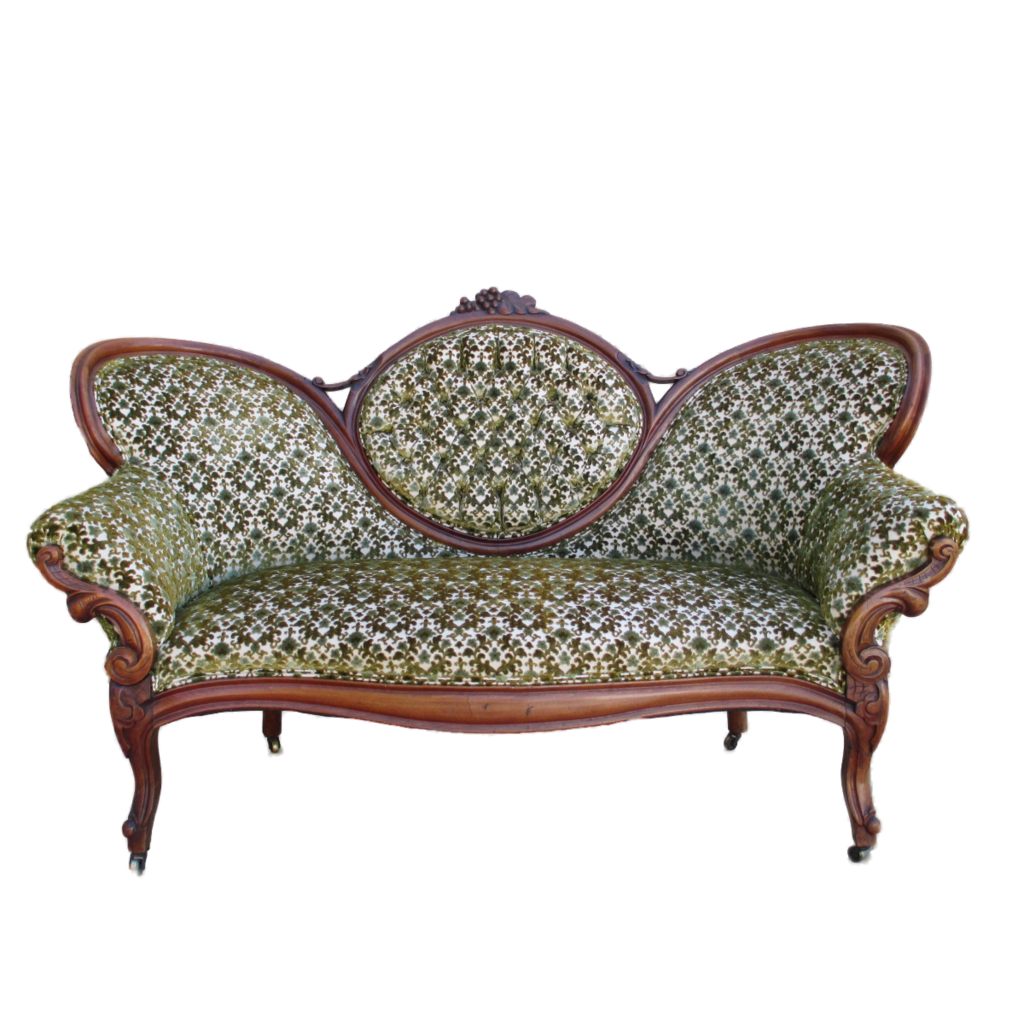 Transparent couch victorian. Furnitures lie in style