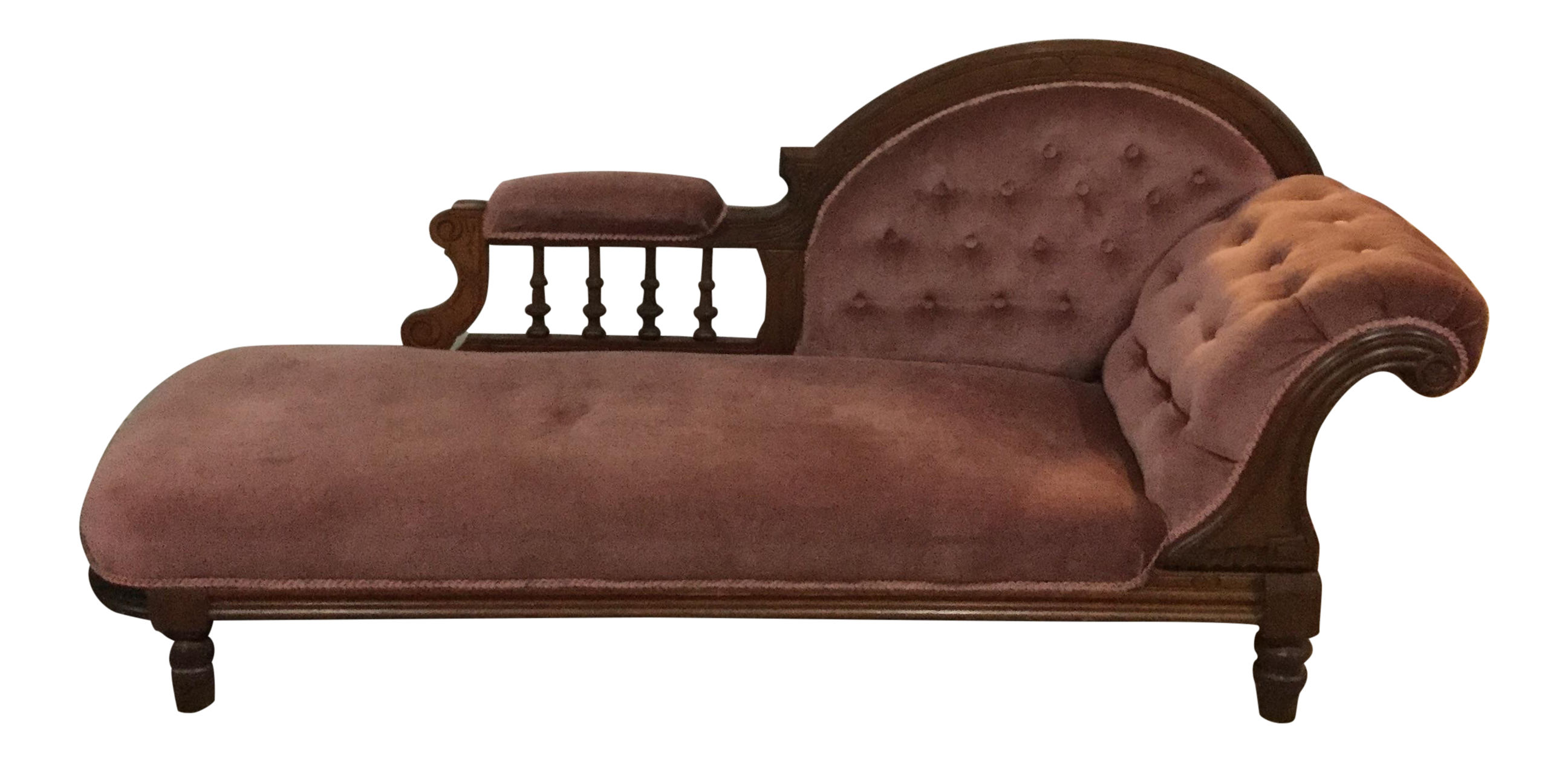 Transparent couch victorian. Antique fainting chairish