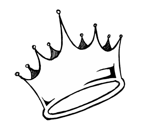 Transparent crowns drawing. Collection of tumblr