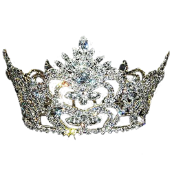 Transparent crowns goth. Queens womens pageant and