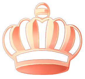 Transparent crowns rose gold. Character creation by once