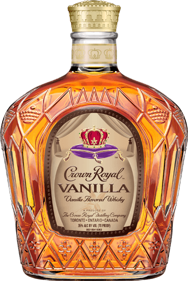 Transparent crowns royal. Crown vanilla whisky