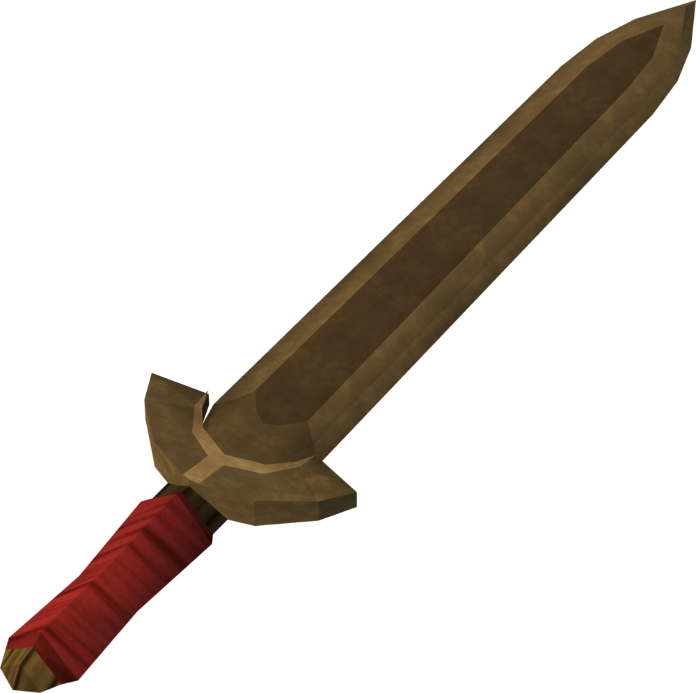 Transparent dagger cool. Image high quality bronze