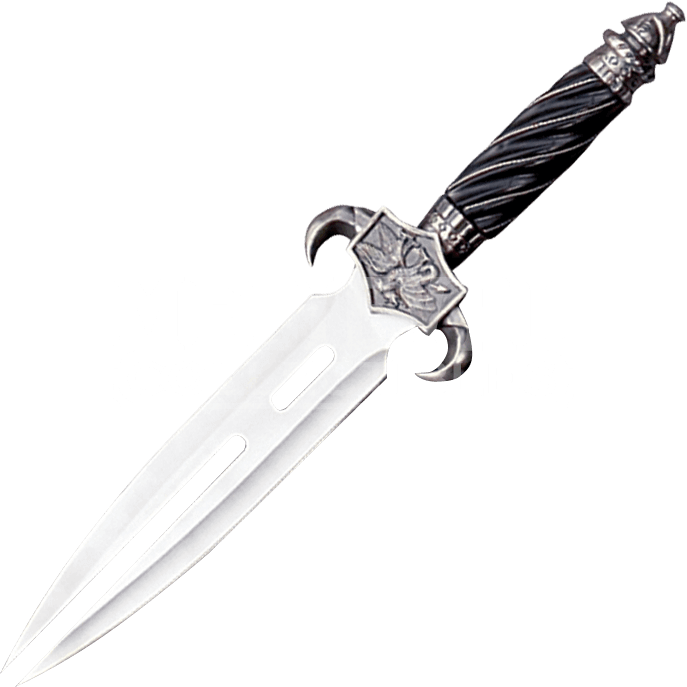 Transparent dagger curved. Split blade fantasy mc