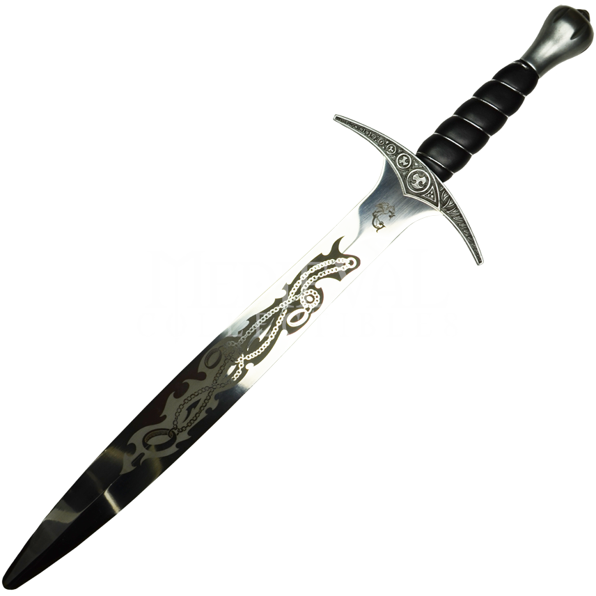 Transparent dagger ornamental. Elven short sword from
