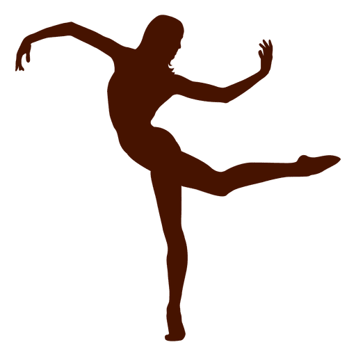 Vector dancer. Posing silhouette transparent png