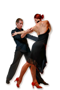 Transparent dancer tango. Dance lessons in houston