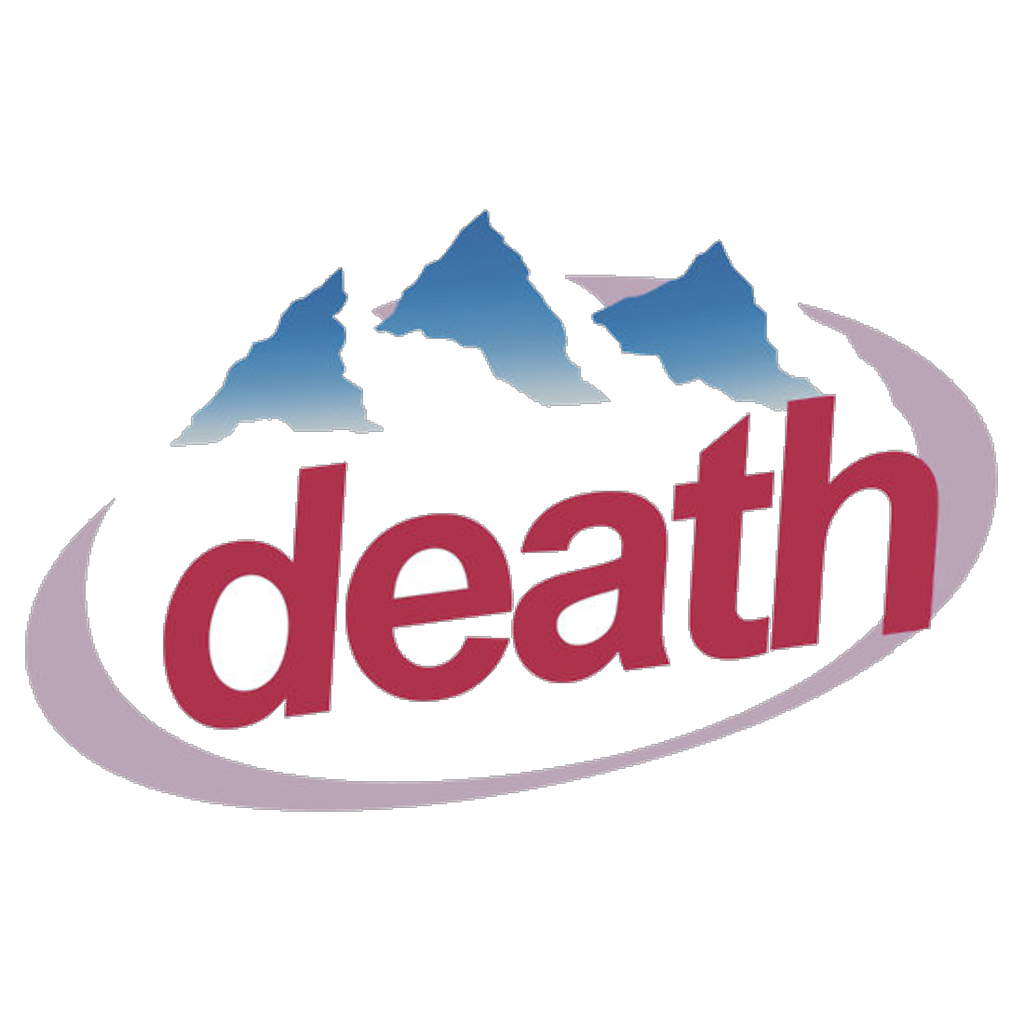 Transparent death aesthetic. Logo water