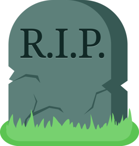 Transparent death grave. Gravestone vector freeuse