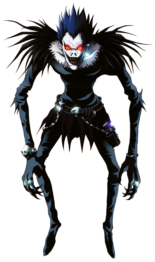 Transparent death shinigami. Ryuk from note hair