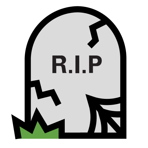 Transparent grave rip. Death icon downfall sepulchre
