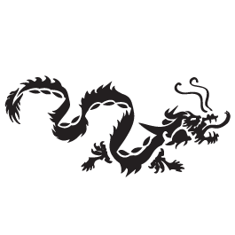 Transparent decals car. Dragon dezign with a