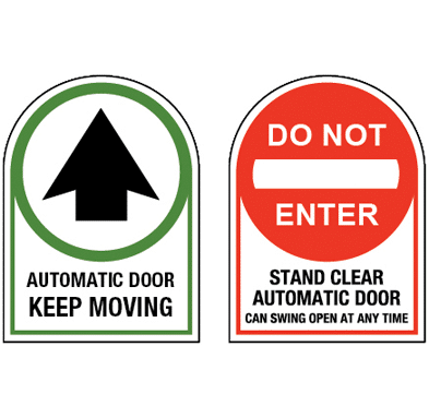 Transparent decals door. Ce automatic keep moving