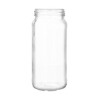 Transparent decals glass jar. Ml clear food