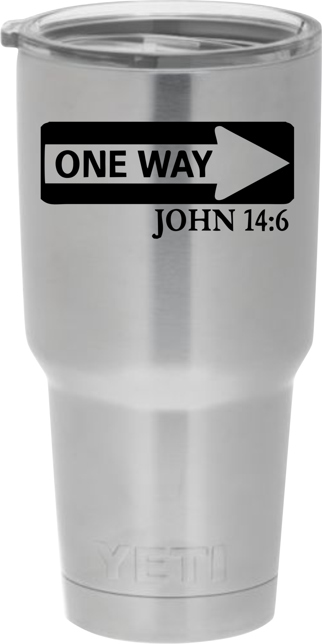 Transparent decals plastic cup. One way john decal