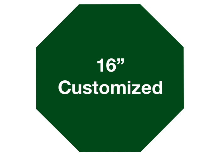 Transparent decals safety. Octagon green custom by