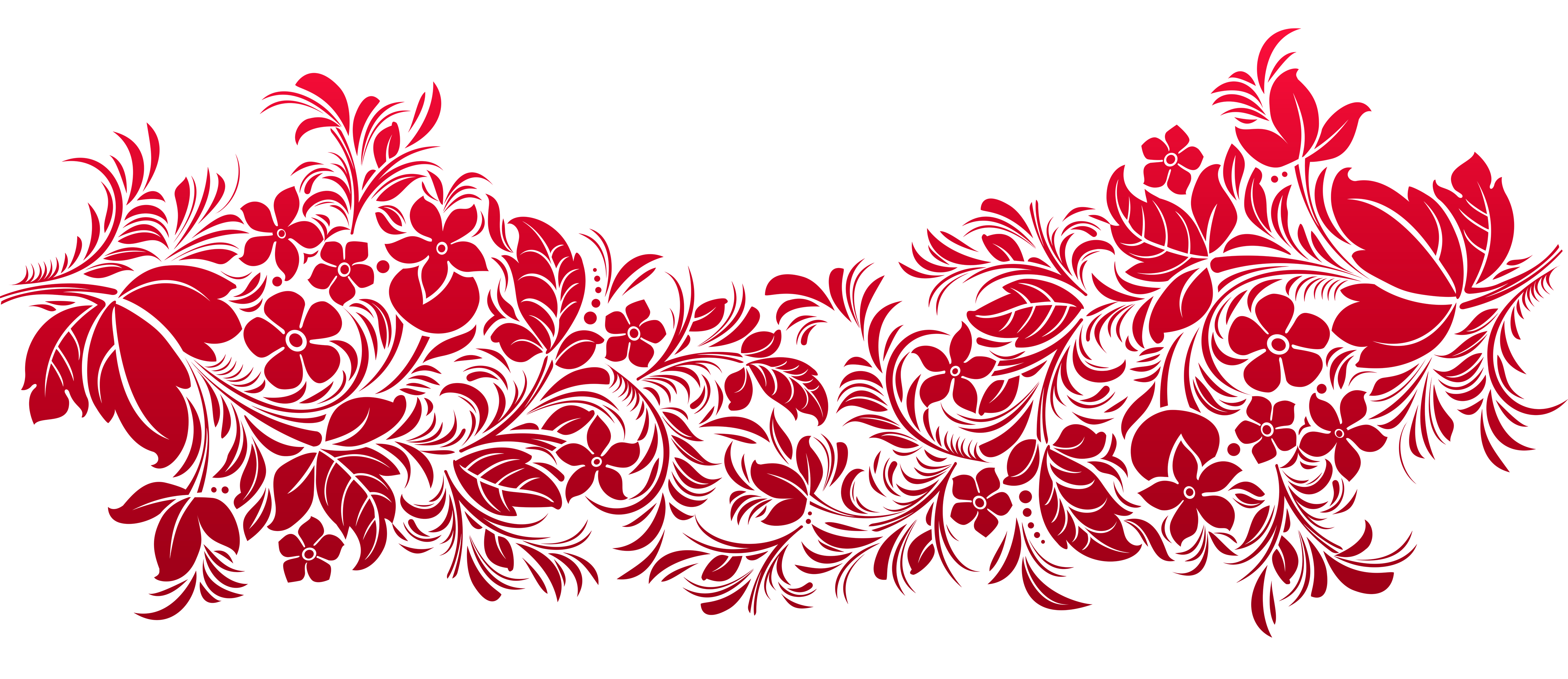 Transparent decoration art png. Red clipart gallery yopriceville