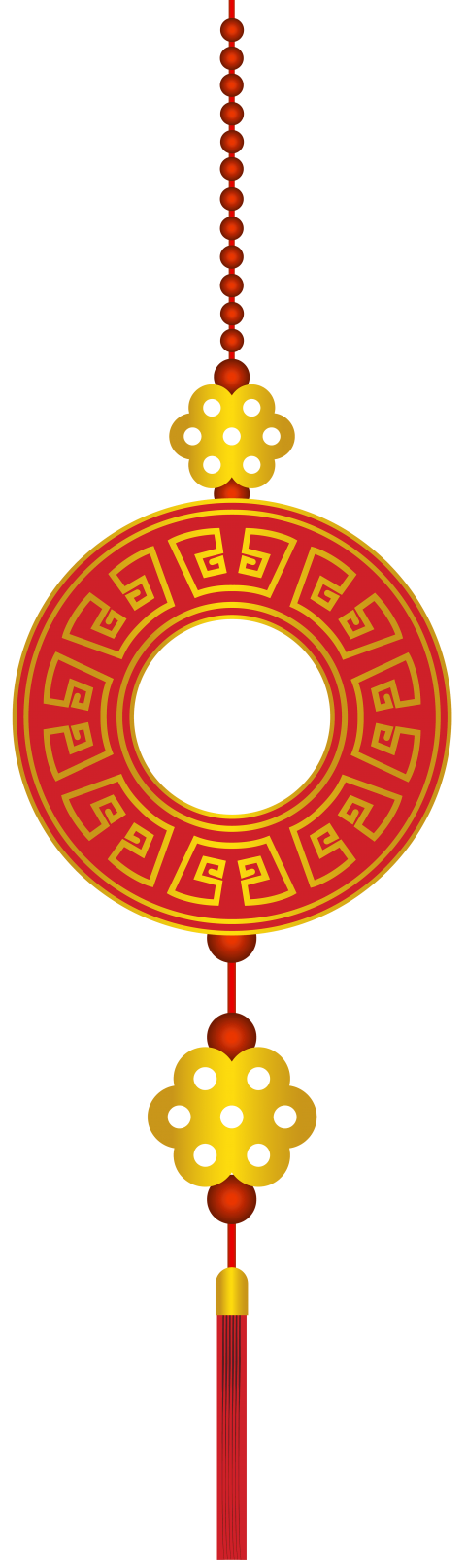 Transparent decoration chinese new year. Image royalty free
