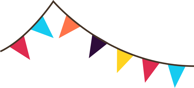 festival clipart decoration. Banner flags png picture free