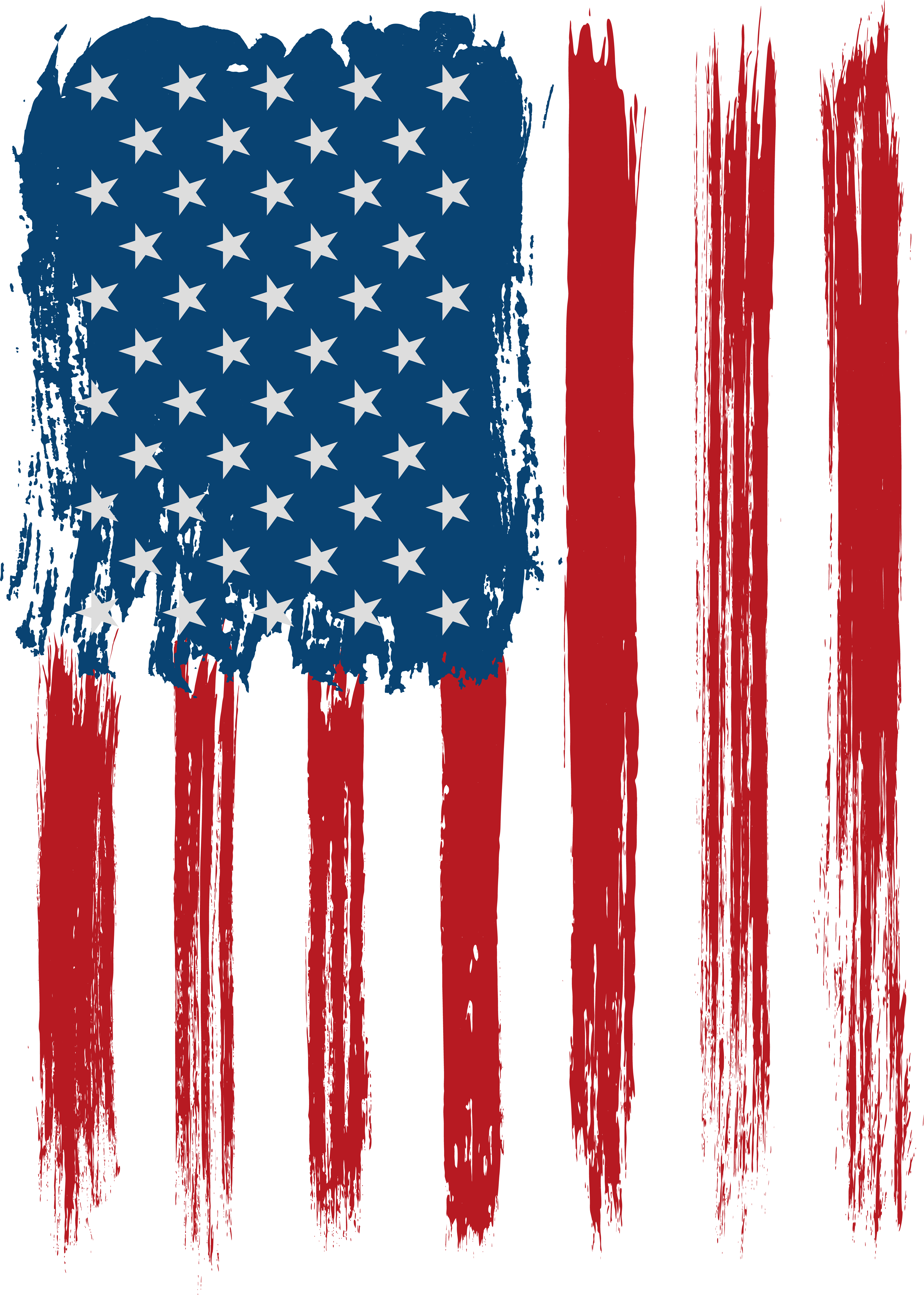 Transparent decoration flag. Usa clip art image