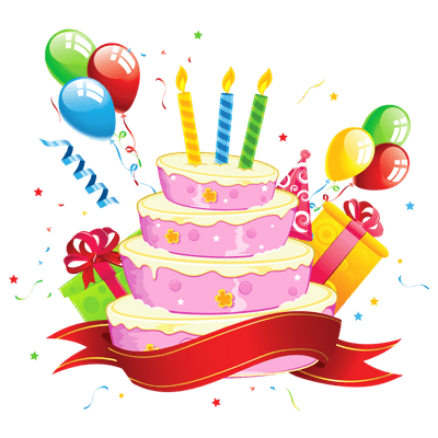 Transparent decoration happy birthday. Png stickpng party cake