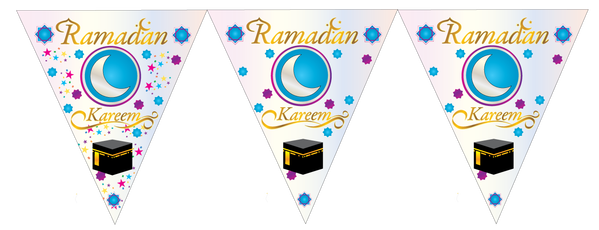 Transparent decoration ramadan. Bunting decorations welcome with