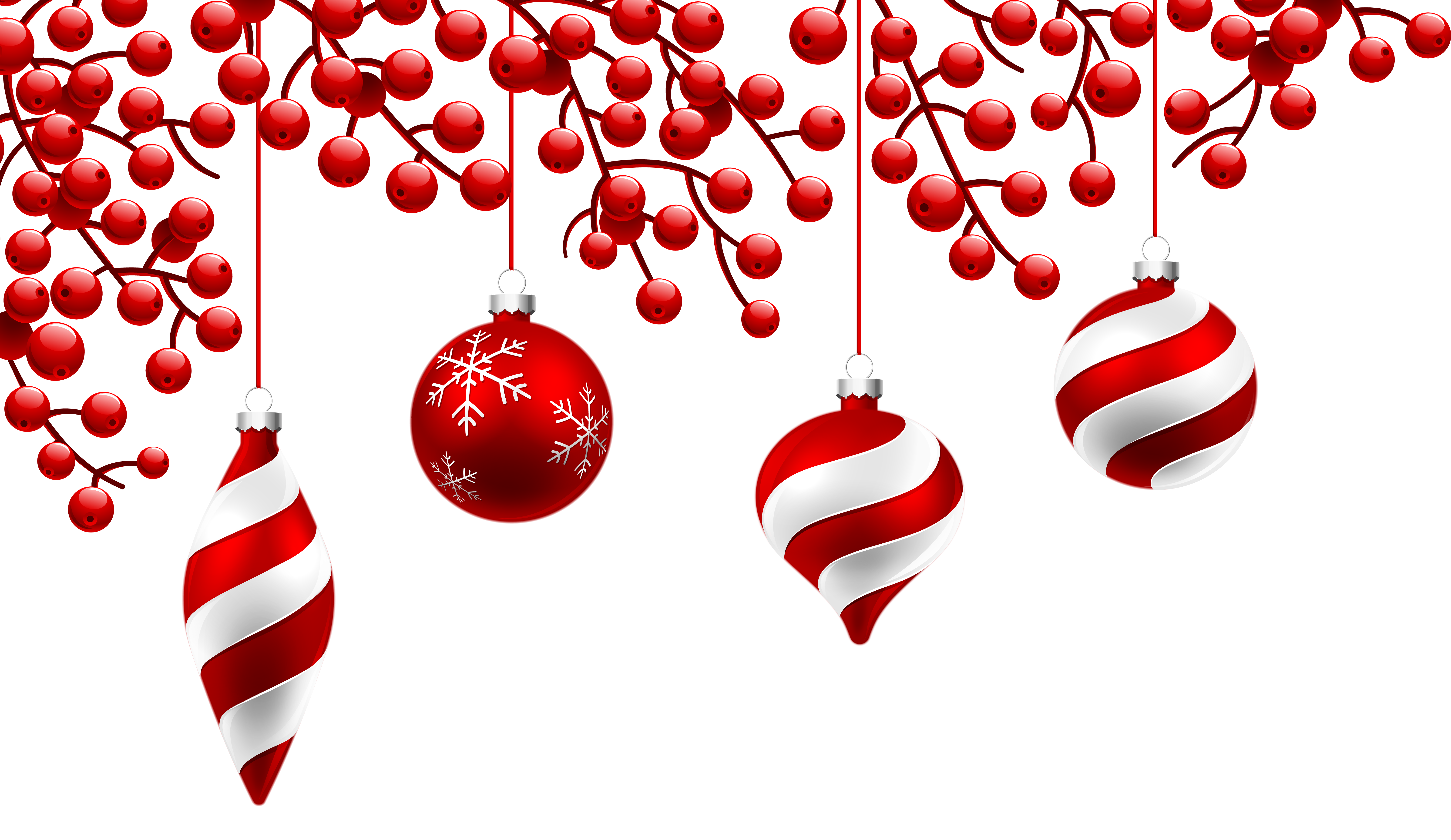 Transparent decoration red. Christmas png clipart image
