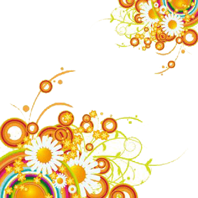 Transparent decoration side. Flowers png stickpng two