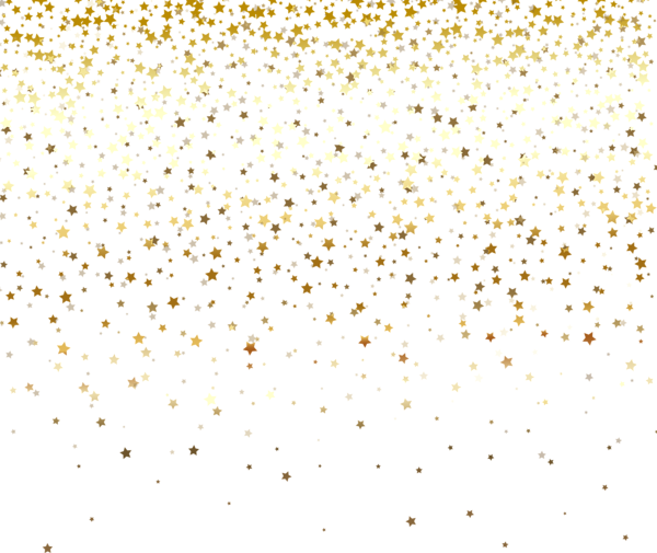 Vector glitter gold background. Stars decor transparent png