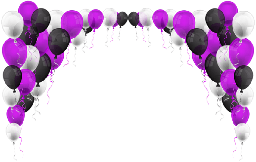 Transparent decoration title. Download balloons png images