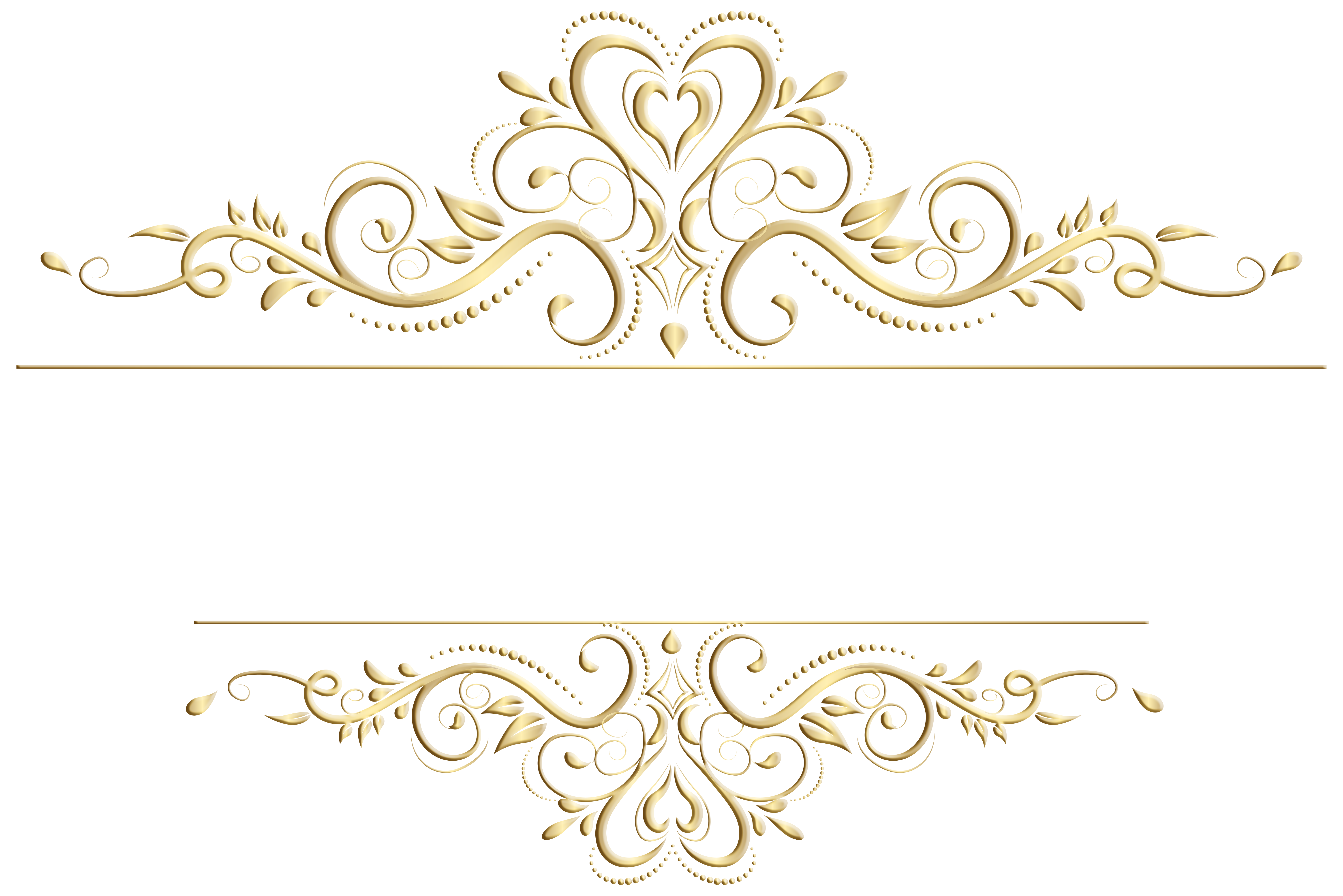 Transparent decoration title. Decorative element clip art