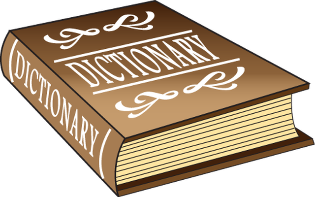 Transparent dictionary clipart. Stock page huge