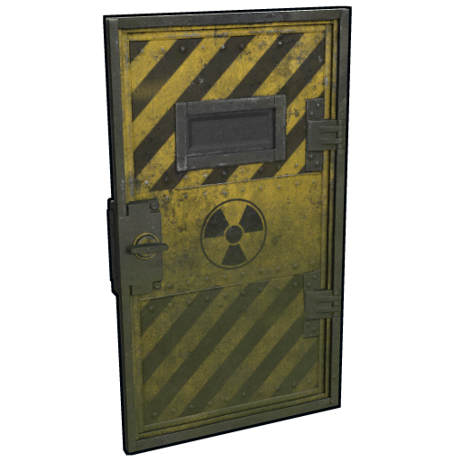 Transparent doors armored. Radioactive door rust in