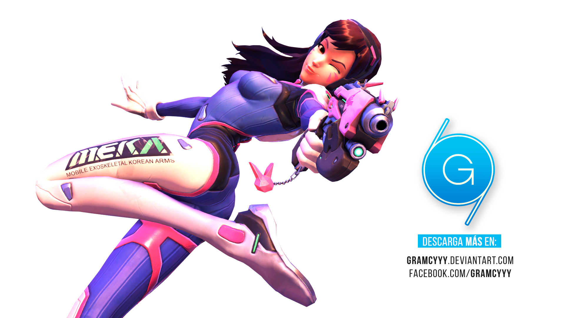 Transparent dva png. Render overwatch by gramcyyy
