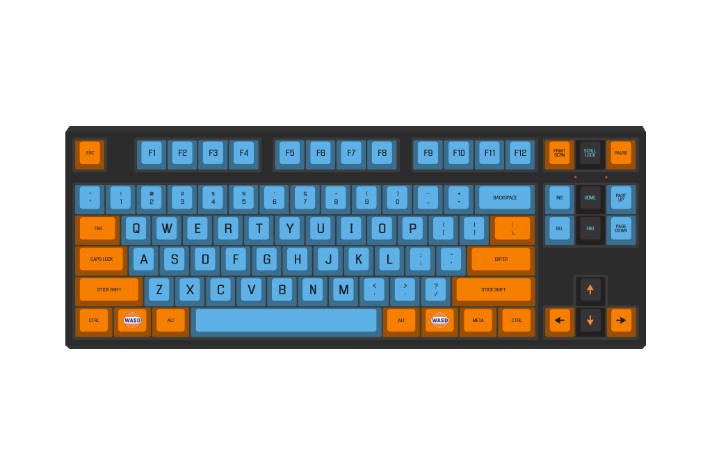 Transparent eel clear. Wasd keyboards racing by