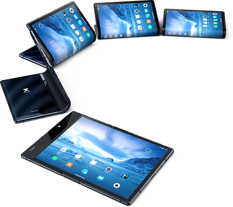 Transparent electronics consumer. First commercial foldable smartphone